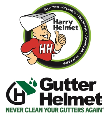 Gutter Helmet by Harry Helmet®Logo