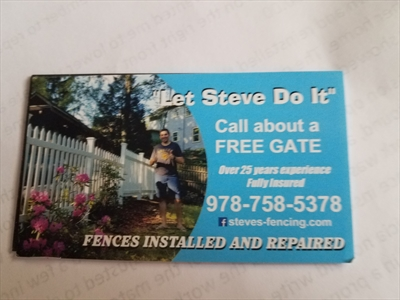 """""""Let Steve Do It"""" Fences Installed and RepairedLogo"""