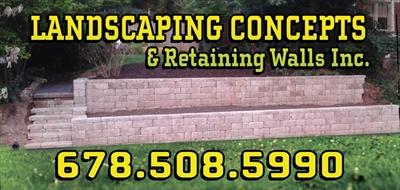 Landscaping Concepts & Retaining Walls Inc.Logo