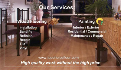 Top Choice Floor and PaintingLogo