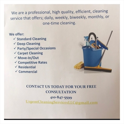 Urgent Cleaning Services, LLCLogo