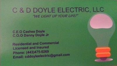 C & D Doyle ElectricLogo